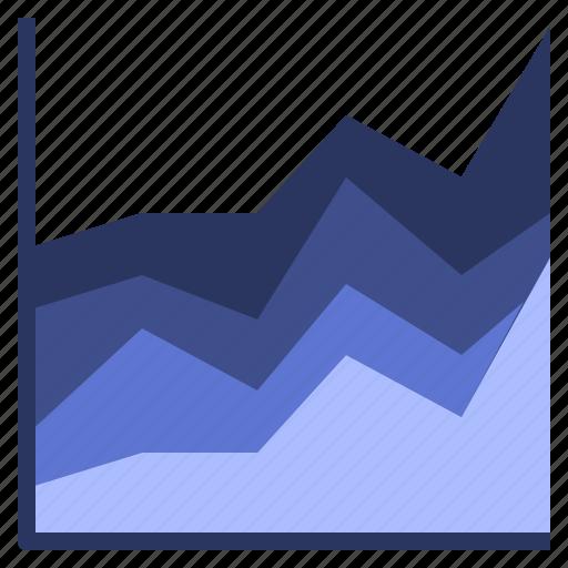 area, chart, graph, visualisation icon