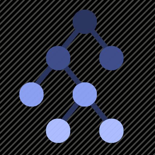 binary, data, diversity, tree icon