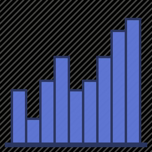 bar, data, histogram, visualization icon