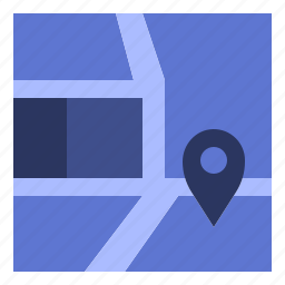 location, map, site, situated icon