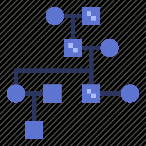 chart, data, family, inherit, pedigree icon