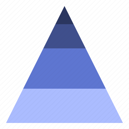 data, pyramid, triangle, visualisation icon