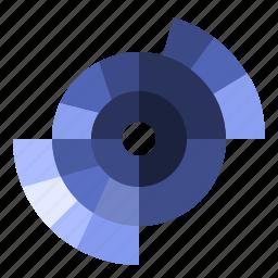 catagorized, chart, pie, sunburst icon
