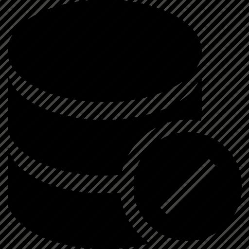 database, disable, hosting, server, storage icon