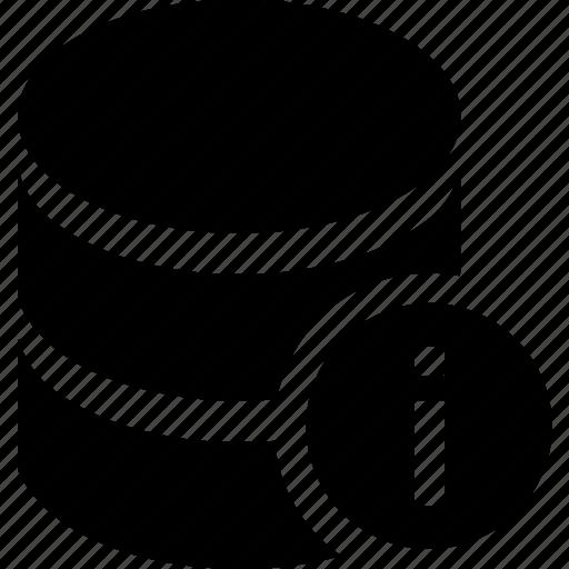 database, hosting, info, server, storage icon