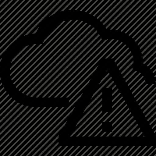 cloud, database, exclamation, hosting, mark, server, storage icon