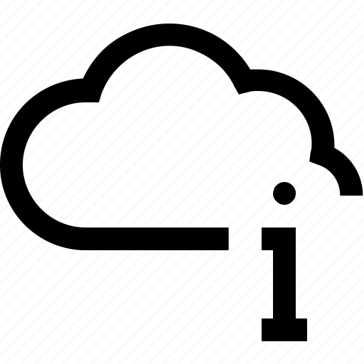 cloud, database, hosting, information, letter, server, web icon