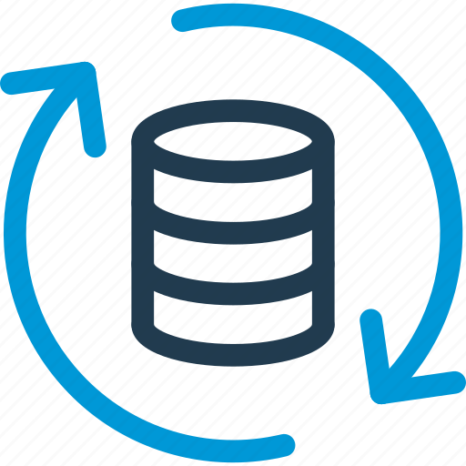 data, database, db, file, refresh, storage, update icon