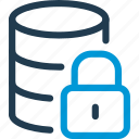 data, database, db, file, lock, password, storage icon