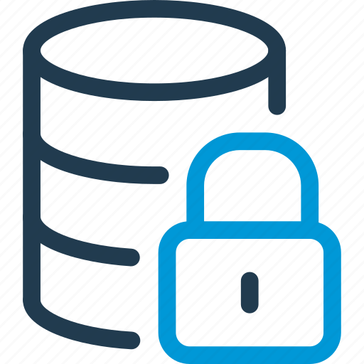 Data, database, db, file, lock, password, storage icon - Download on Iconfinder