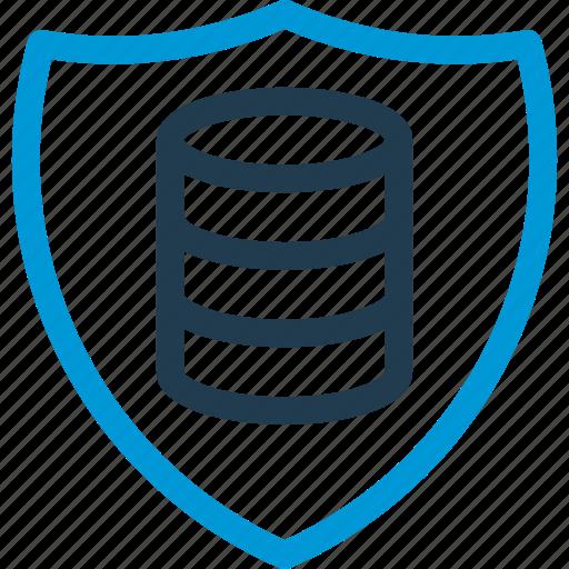 data, database, db, file, security, shield, storage icon