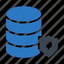 database, protection, secure, server, storage icon