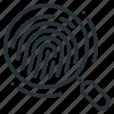 compliance, fingerprint, gdpr, identification, magnifying, recognition, fingerprint identification
