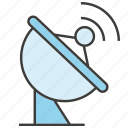 communicate, data, dish aerial, satellite dish icon
