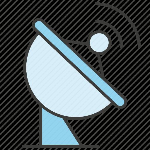 communicate, data, dish aerial, satellite dish icon