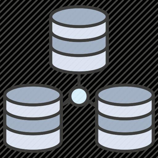 connect, data center, database, hosting, network, server, storage icon