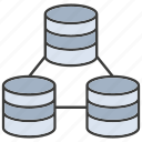 connect, data center, database, hosting, network, server, storage icon