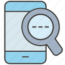 magnifier, mobile, phone, search icon