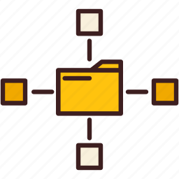 data, database, network, sharing, storage icon
