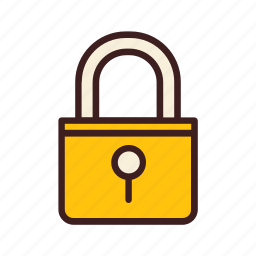 data, database, lock, network, storage icon
