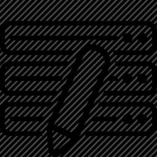 data, database, edit, modification icon