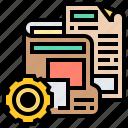 data, files, folder, manage, primary icon