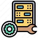 hosting, mainframe, management, server, storage icon