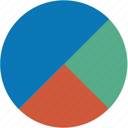 2d pie chart, analytics, business, charts, diagram, graph, report, statistics icon