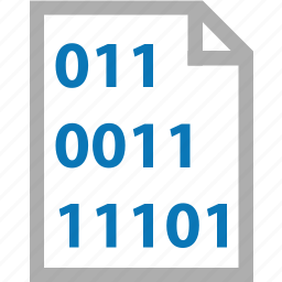 binary, code, data, document, documents, file icon