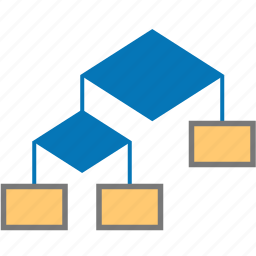 algo, algorithm, block, chart, connector, diagram, flow, flow block, flow-block, flowblock, graph, method, scheme icon