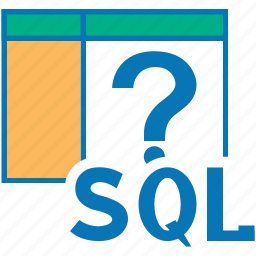 about, help, mark, query, question, sql icon