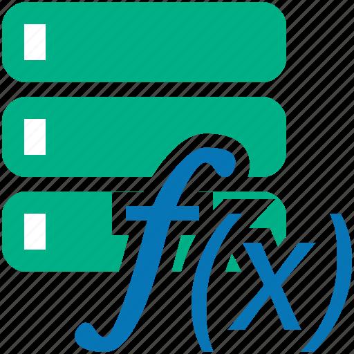 databank, database, func, function, graph, hosting, logarithm, server, storage icon