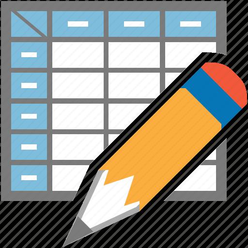 datasheet, design, draw, edit, graphic, graphics icon