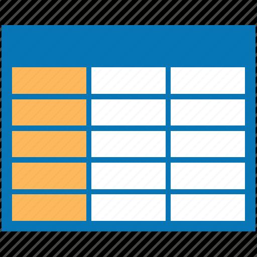 column, columns, grid, interface, table icon