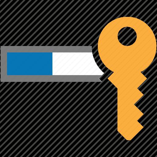 field, key, log in, login, password icon