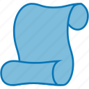 document, law, macros, paper, roll, script, scroll, writing icon