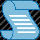 script, law, roll, paper, writing, document, scroll