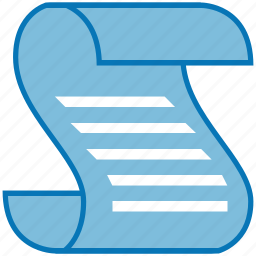 document, law, paper, roll, script, scroll, writing icon
