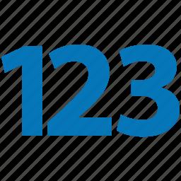 digit, integer, number, numeral, numeric icon