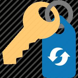 key, password, passwords, refresh, reload, update icon