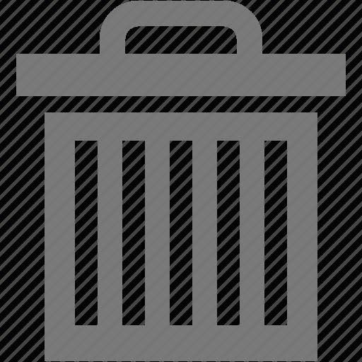 basket, bucket, delete, pail, trash icon