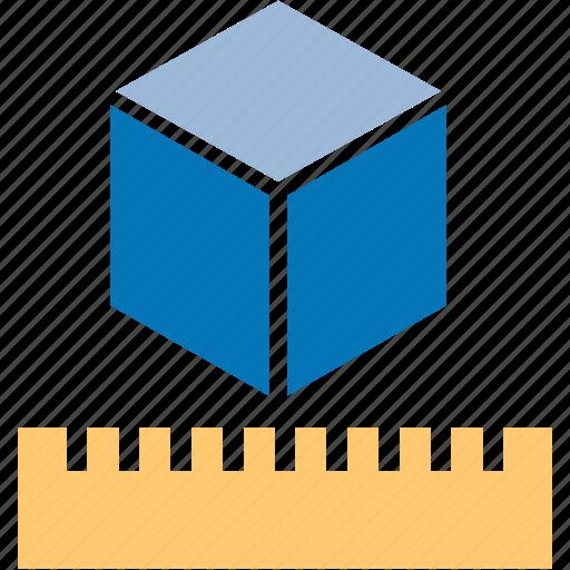 cube, math, measure, measurement, meter, ruler, units icon