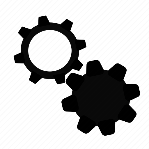cogs, in progress, loading, processing, working icon