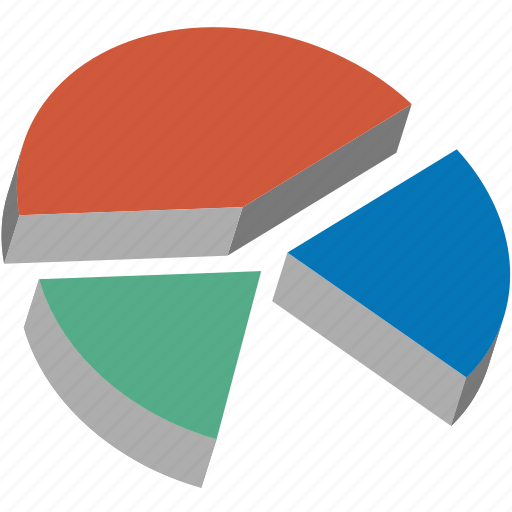 3d pie chart, analytics, business data, chart, diagram, graph, report icon