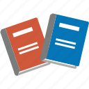 books, documents, education, learning, library, school, study icon