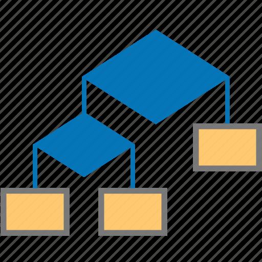 block, diagram, flow block, graph, plan, schedule, structure icon