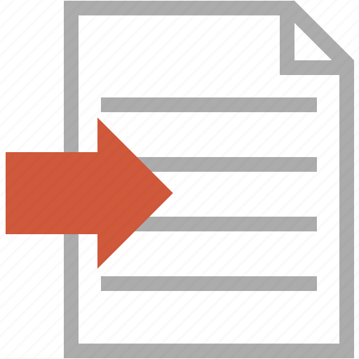 document, files, import, message, next, text icon