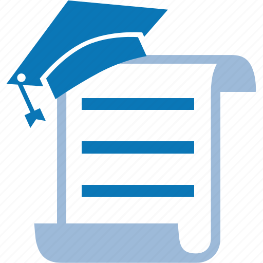 diploma, document, knowledge, library, studying icon