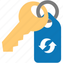 key, password, passwords, refresh, reload, update icon