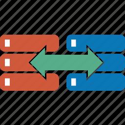copy, data, database, move, replica, server, transfer icon